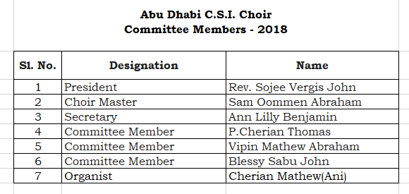 Choir Committee